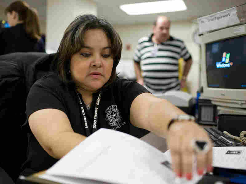 Sylvia Urrutia, an officer working with the pretrial release program in Lubbock.