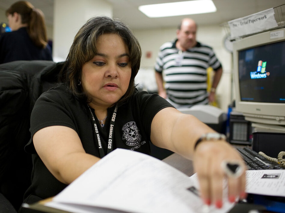 If an inmate has not been bailed out of jail within three days after arrest, Sylvia Urrutia, an officer working with the pretrial release program in Lubbock, Texas, contacts the inmate to see if he is eligible for the program.
