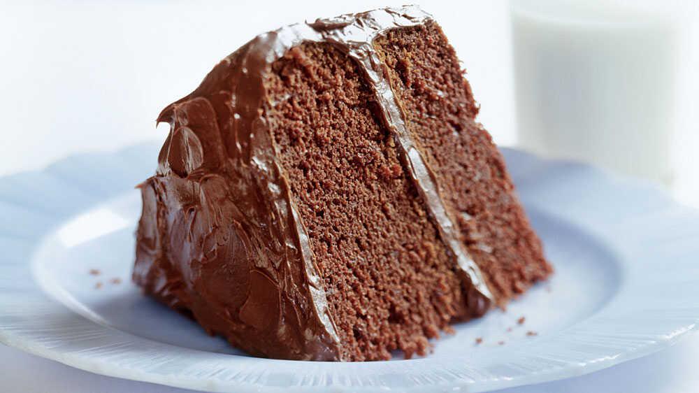 A slice of yummy chocolate cake
