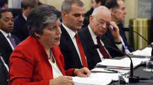 Homeland Security Secretary Janet Napolitano, left, testifies.
