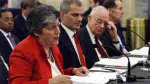 Homeland Security Secretary Janet Napolitano, left, testifies.