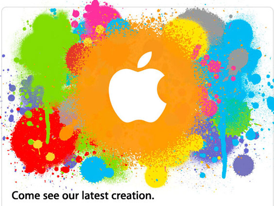 Apple sent out this e-mail invitation for an event to be held at 1:00 p.m. EST on Wednesday. It's expected the company will introduce a midsize tablet device.
