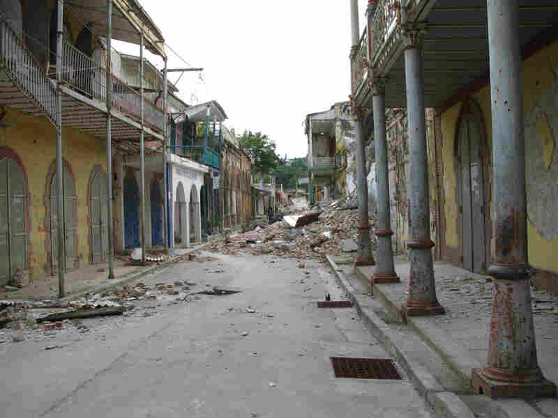 The historic core of Jacmel was hit especially hard.