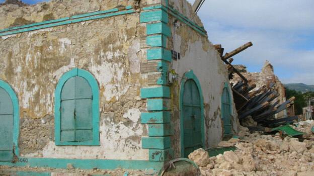 It wasn't hit as hard as Port-au-Prince, but Jacmel lost many buildings in the earthquake. (NPR)