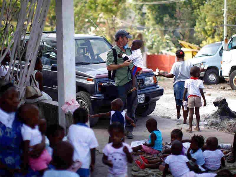 NPR correspondent Jason Beaubien reporting in Haiti