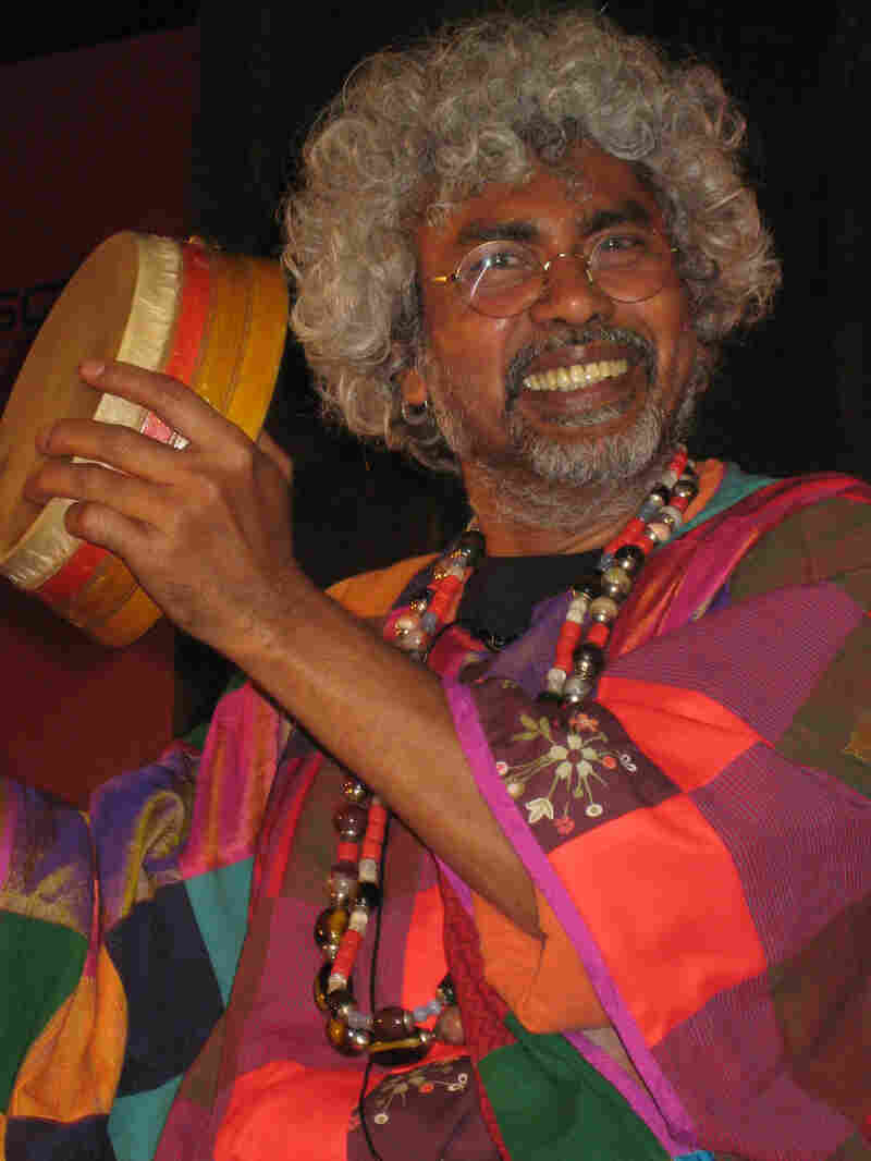 The musician Paban Das Baul performs at the Jaipur Literature Festival in India. (Custom)