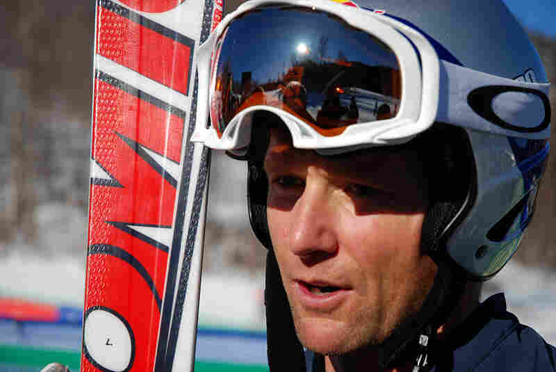 Olympian Daron Rahlves, 36, at the Nature Valley World Cup ski cross final in Lake Placid, N.Y.