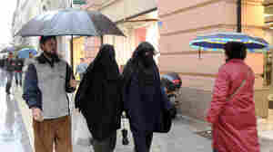 Veiled Muslim women in Marseille, France, in December 2009