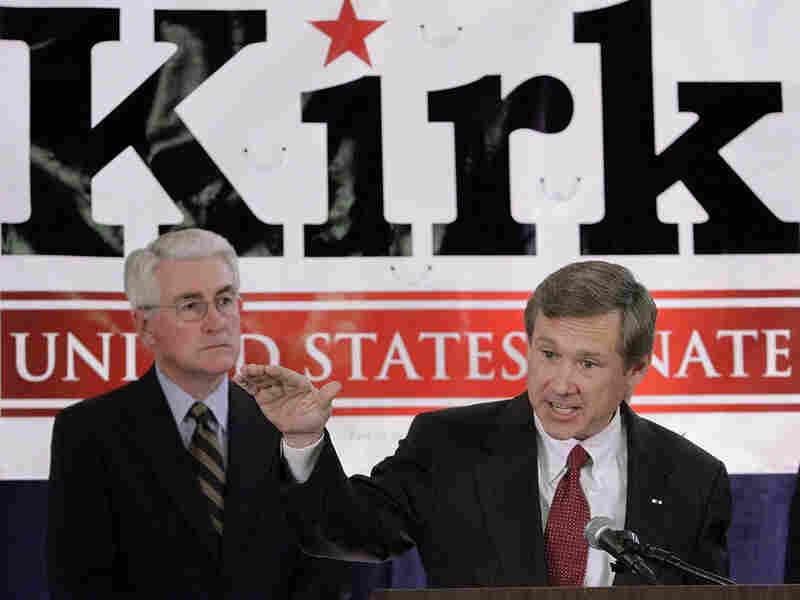 Former Illinois Gov. Jim Edgar and Senate candidate Mark Kirk