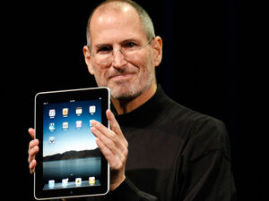 Apple introduced the iPad, a mobile tablet browsing device