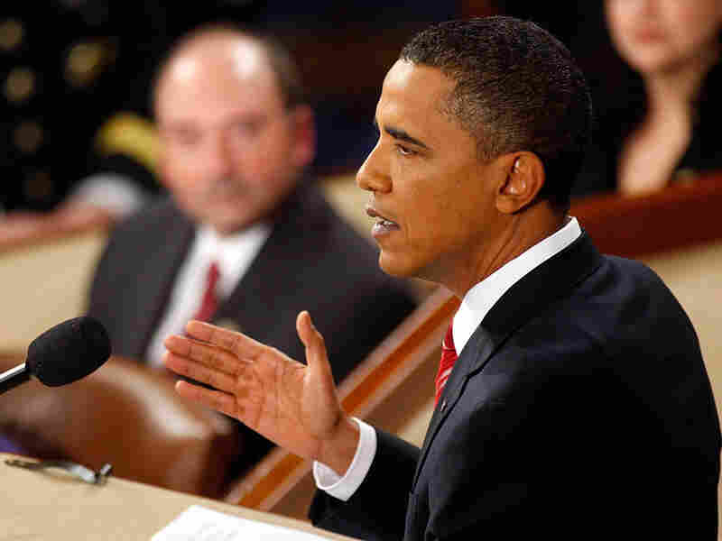 President Obama gives his State of the Union address at the U.S. Capitol on Wednesday.