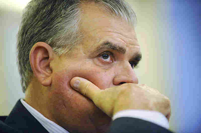 U.S. Transportation Secretary Ray LaHood testifies in October.
