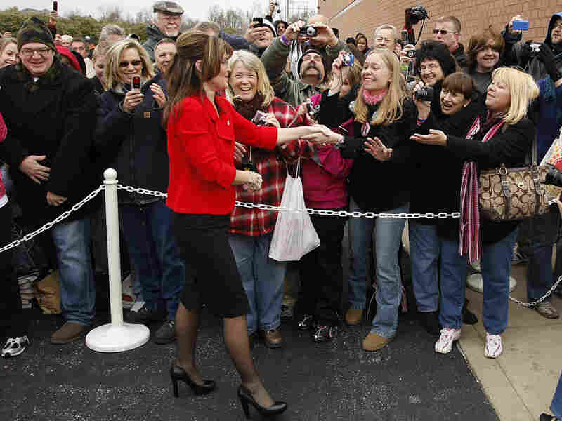 Former Alaska Gov. Sarah Palin drew a crowd for her book signing in December.