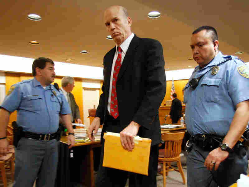 Scott Roeder leaves the courtroom after the jury heard the closing arguments in his case.