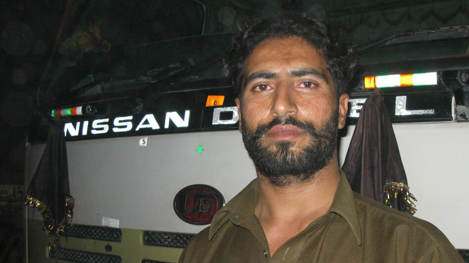 Raziq Shah, 30, has made about 100 trips from Pakistan to Afghanistan to deliver supplies to U.S. and NATO troops. A driver and oil tanker owner, Shah has been shot at by the Taliban and survived rocket attacks from militants.