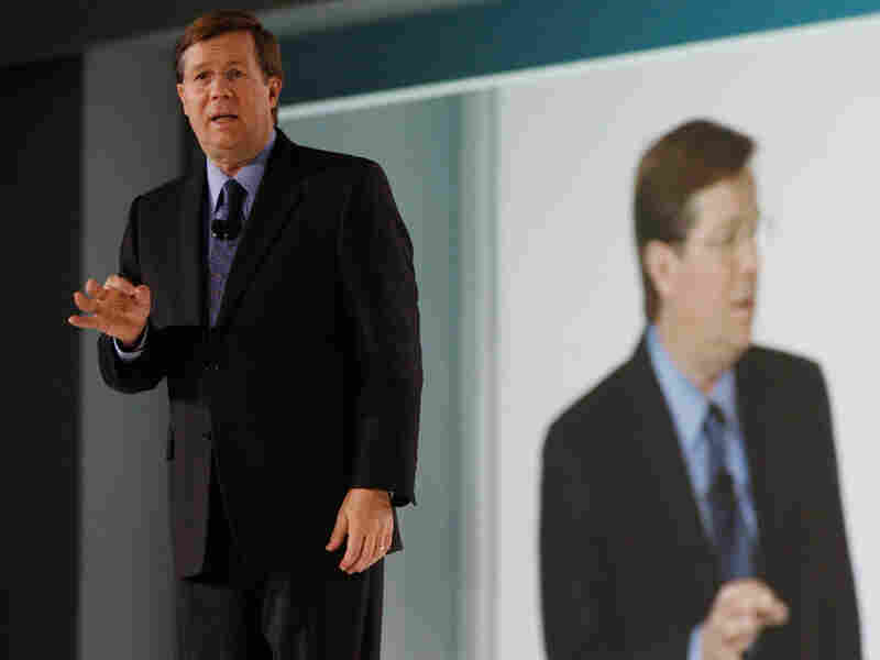 Jim Lentz, president of Toyota Motor Sales USA, speaks at the Detroit auto show in January.