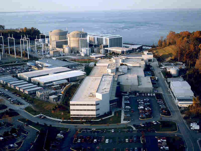 The Calvert Cliffs Nuclear Power Plant on the western shore of the Chesapeake Bay.