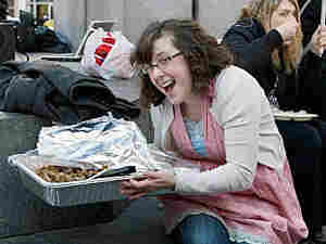 Keli Carender attends a tea party protest in February 2009.