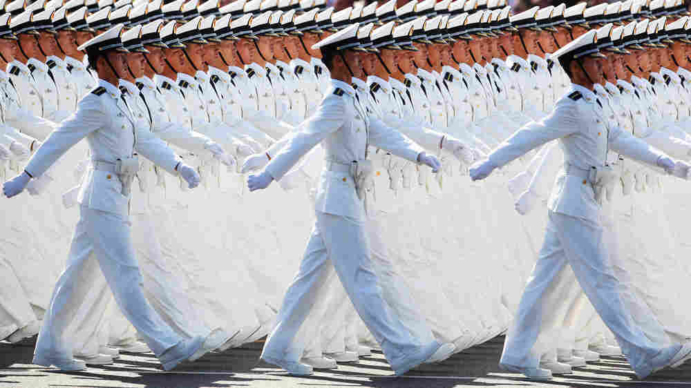 Chinese People's Liberation Army sailors march