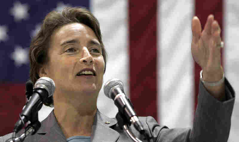 Sen. Blanche Lincoln of Arkansas speaks during a January 2009 aviation industry forum.