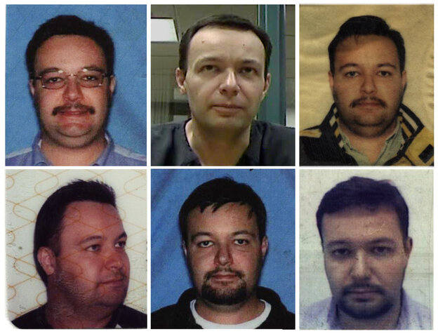 The faces of Lalo through the ages -- from various drivers licenses, a passport and a video of him.