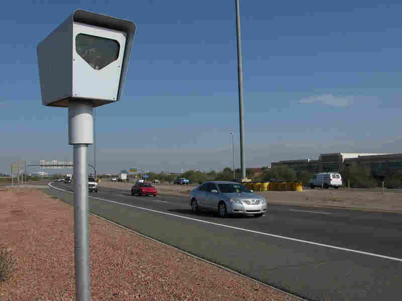 One of the three dozen fixed speed enforcement cameras lining the highways around Phoenix.