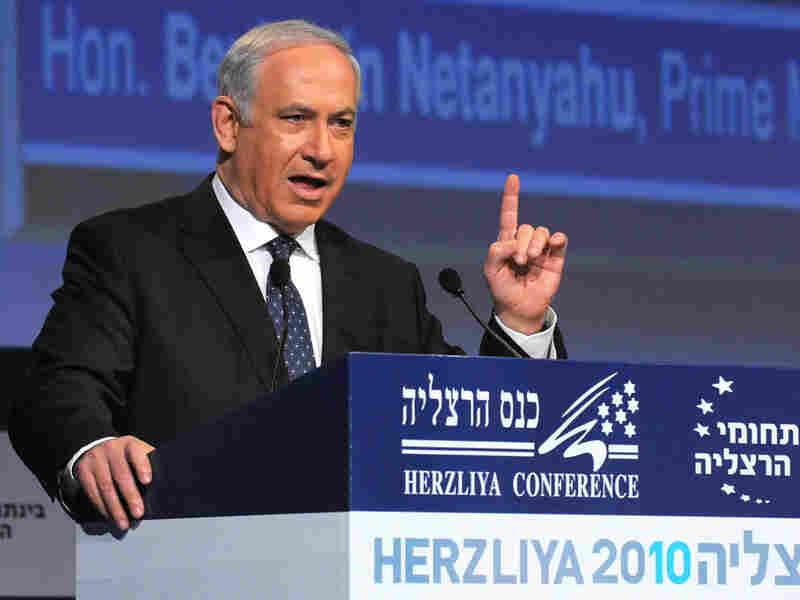 Israeli Prime Minister Benjamin Netanyahu speaks during the Herzliya Conference.