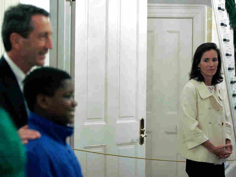 South Carolina first lady Jenny Sanford and Gov. Mark Sanford at the Governor's Mansion