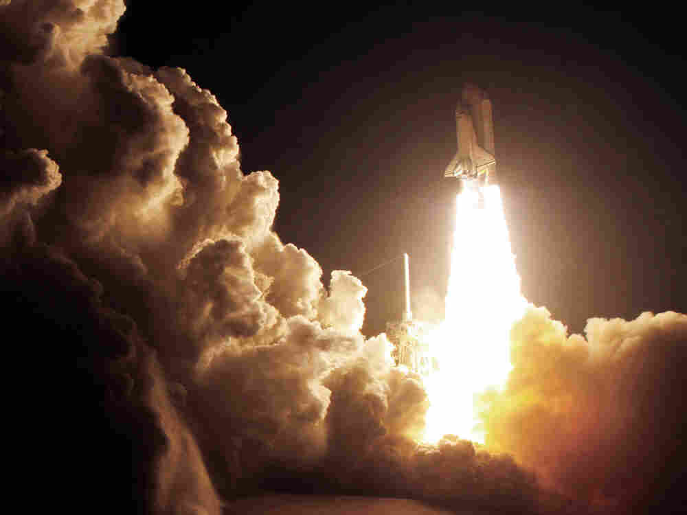 Space Shuttle Endeavour lifts off from the Kennedy Space Center at Cape Canaveral, Fla.