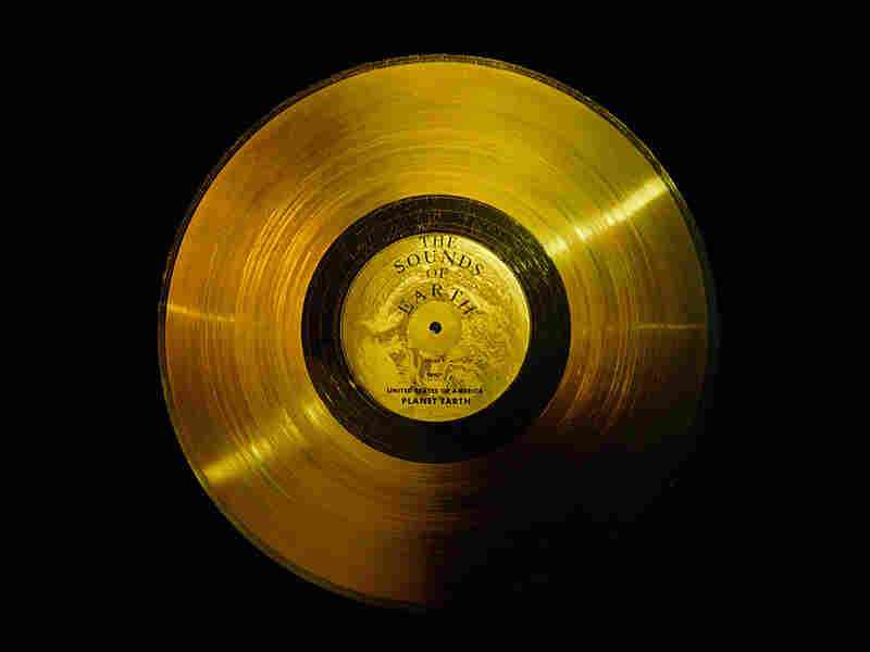 Golden record carrying a mix of sounds into space