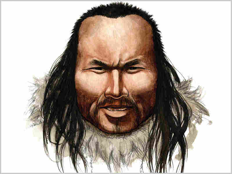 """An artist's Impression of """"Inuk,"""" a 4,000-year-old human whose remains were found in Greenland."""
