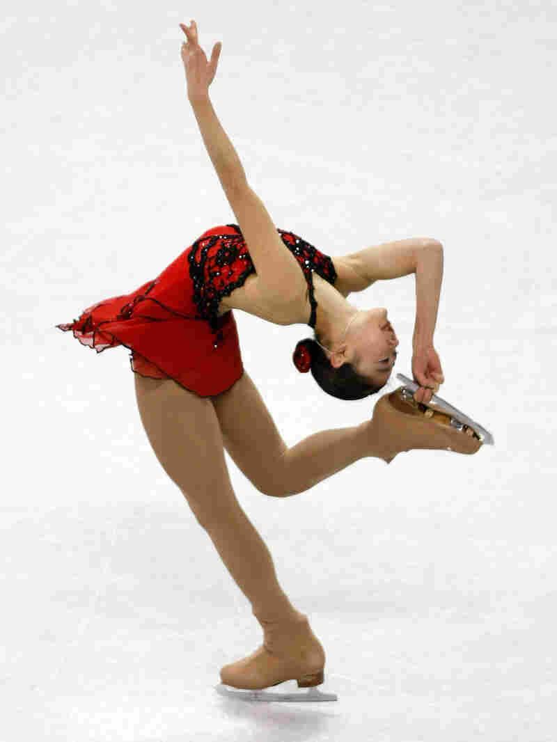 Mirai Nagasu skates en route to winning a silver medal at the U.S. Figure Skating Championships.