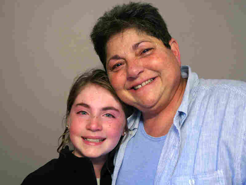 Genna Alperin with her grandmother M.J. Seide at StoryCorps in Norfolk, Va.