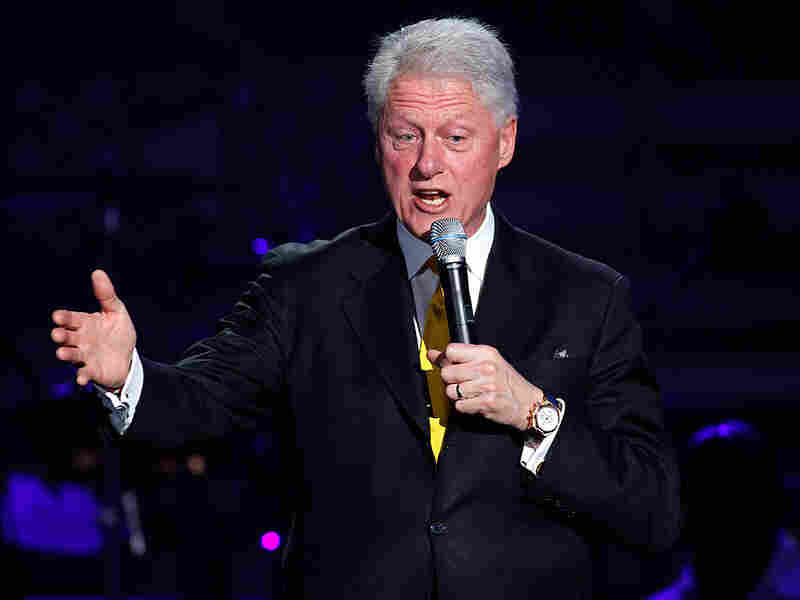 Bill Clinton attends a concert for Haiti in Miami, Feb. 5.