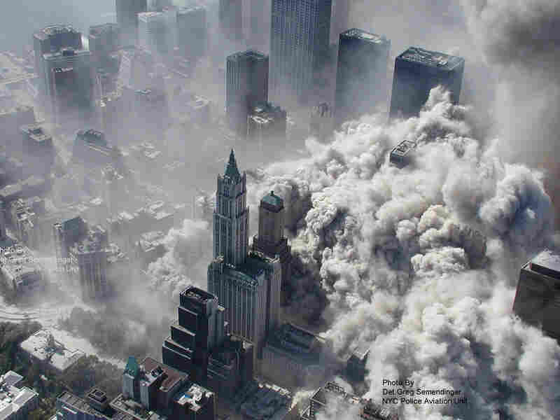 Aerial Image Of World Trade Center Attack