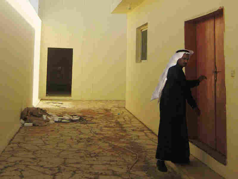 The site of the future library at the Saudi rehabilitation center.