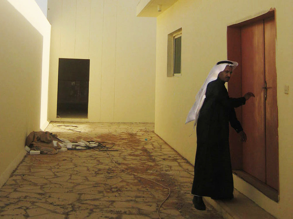 The site of the future library at the Saudi rehabilitation center. The facility includes dorm-like sleeping quarters for inmates and more comfortable villas where their families can visit.