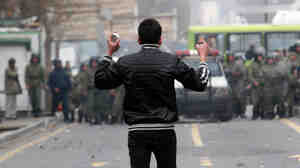 A protester in Iran. AFP/Getty Images