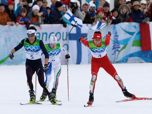 Johnny Spillane Crossing Olympic Finish Line