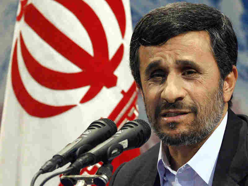 Iranian President Mahmoud Ahmadinejad speaks at a news conference Tuesday in Tehran.