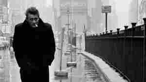 James Dean walks in Times Square