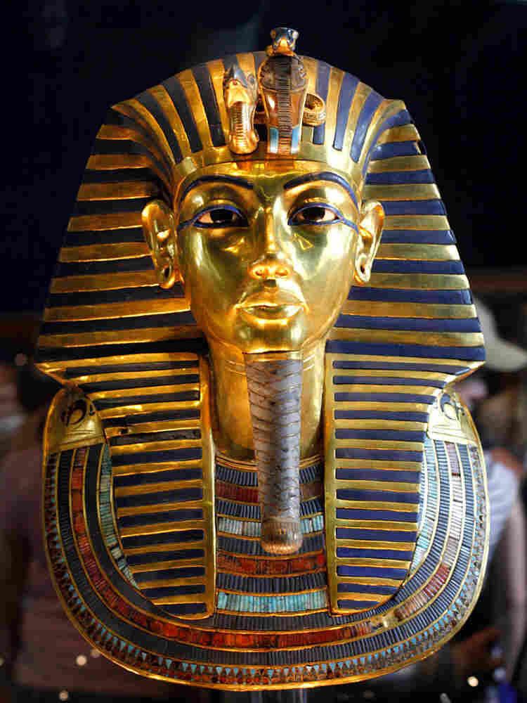 The golden mask of King Tutankhamen is displayed at the Egyptian Museum in Cairo.