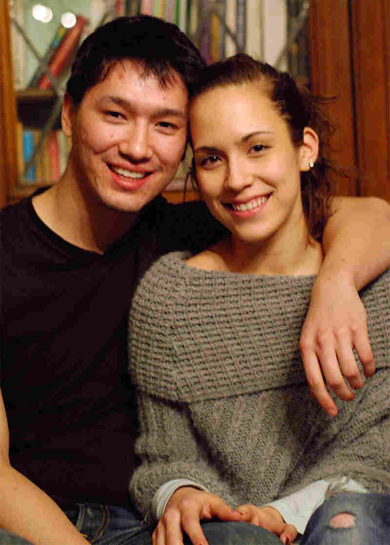 """Although Josh Schanker, 20, and Marina Shimoyama, 19, were """"matched"""" by their parents, they were allowed to help make the selection. They participated in the mass blessing ceremony in Korea on Wednesday."""