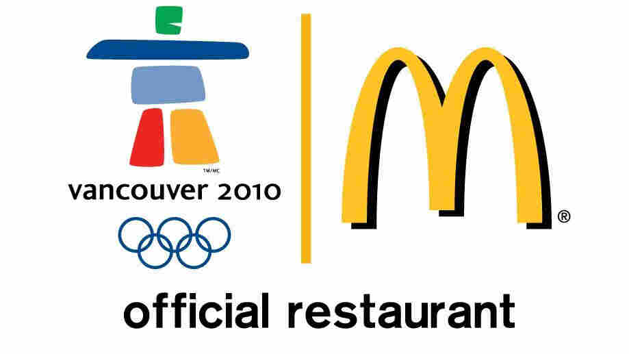 The official McDonald's logo for the 2010 Olympic Winter Games.