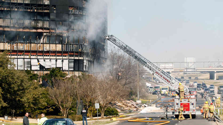 The office building in Austin, Texas, that was hit by a plane houses IRS offices.