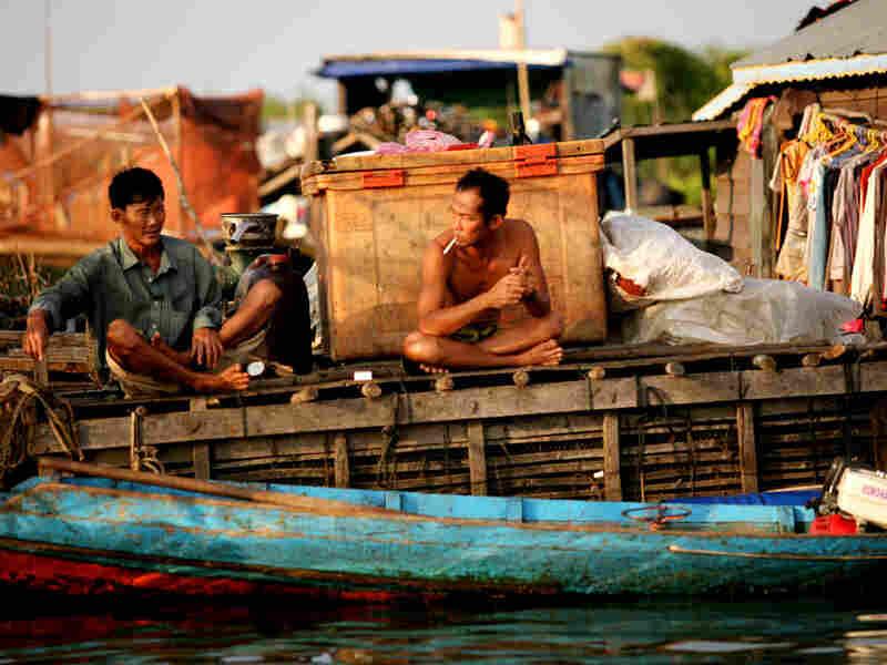 Floating village on the Tonle Sap Lake outside Siem Reap