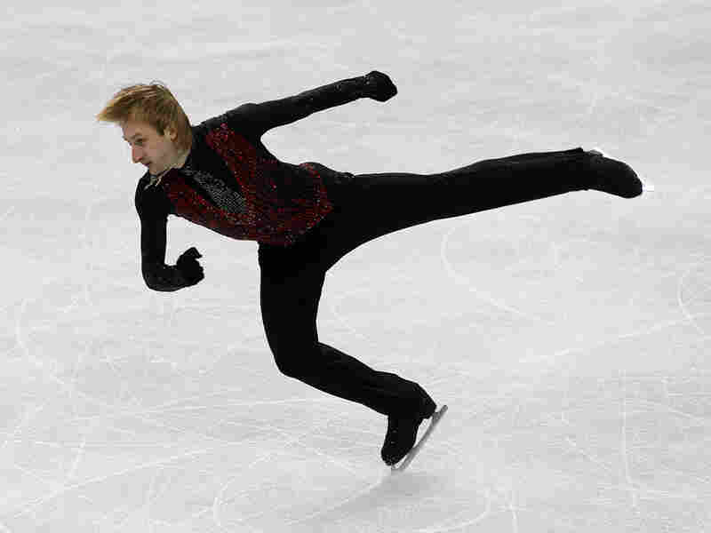 Evgeni Plushenko of Russia competes in the men's free skate on Day 7 of the Vancouver games.