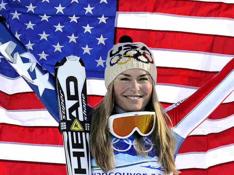 U.S.'s Lindsey Vonn poses for photographers.