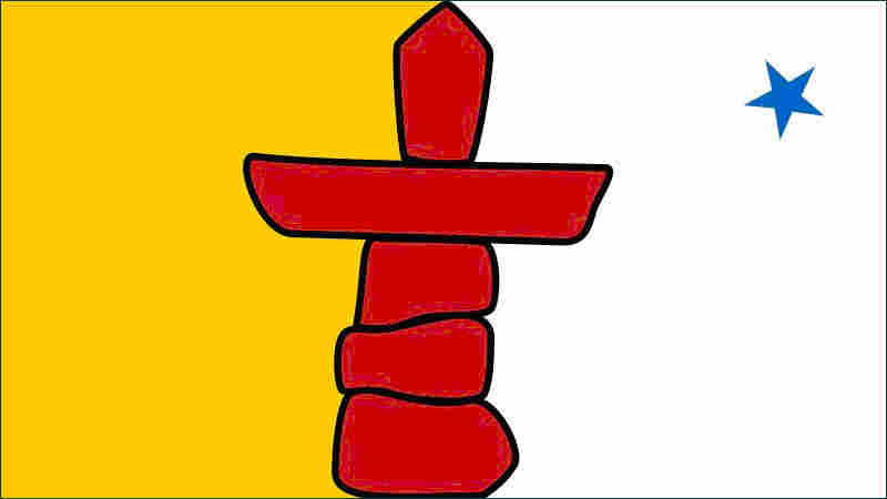 The flag of the nation of Nunavut