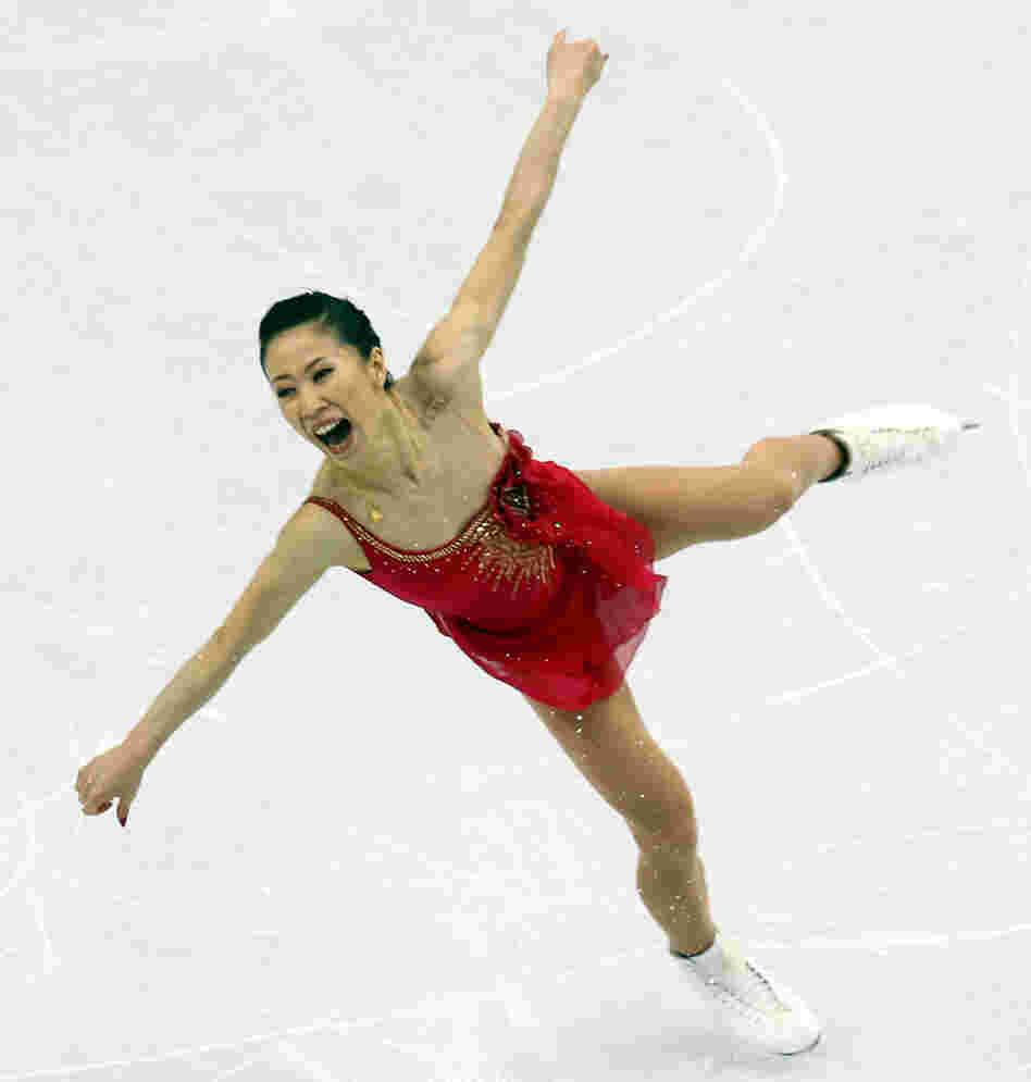 figure skater at the Vancouver Olympics